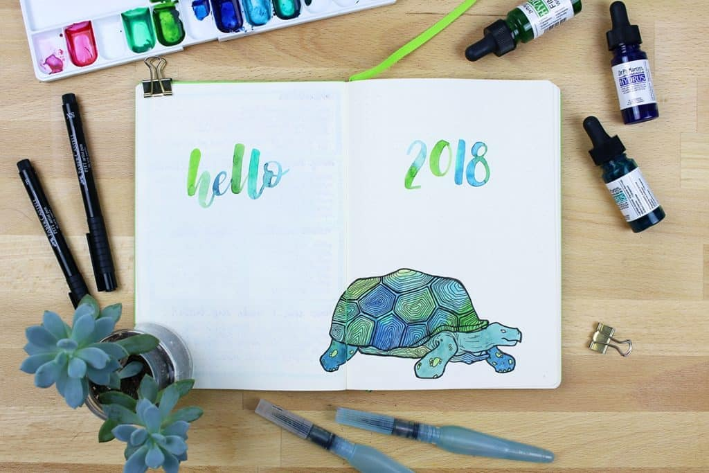 2018 bullet journal setup my mantra