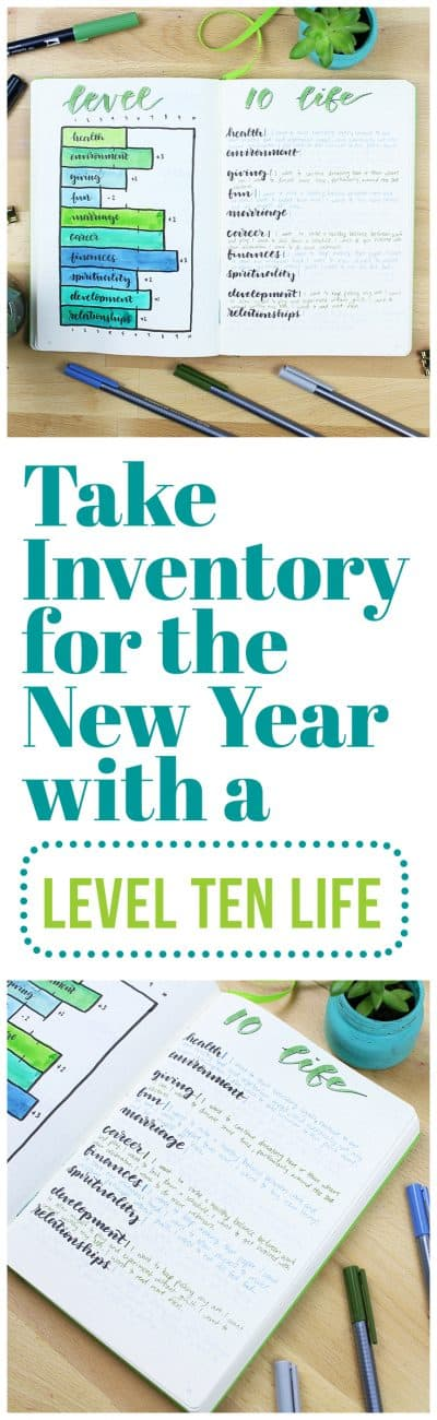 There's no better way to kick off the new year than by creating a Level Ten Life! This fun, in-depth chart allows you to dive into your goals life nothing else, and it's super effective when you do it at the beginning of a new year!