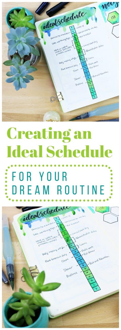 When you're setting your big goals for the months ahead, it's worth it to take a second and change your perspective. Think up your ideal schedule and imagine what that might look like. Then you can take those blueprints and build from the ground up for a fun and effective way to set goals!