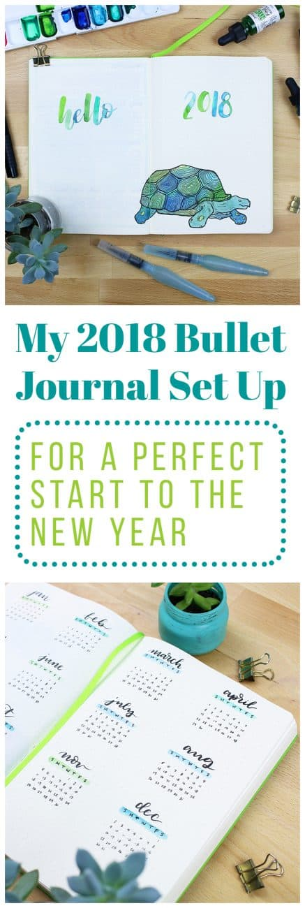 The new year is here! With the new year comes a feeling of energy, productivity, and action. I wanted to harness this energy, so I rolled up my sleeves and came up with my 2018 bullet journal setup! This will act as a map for the year ahead and work to help me achieve my goals successfully. I can officially say that I am ready to take on 2018!
