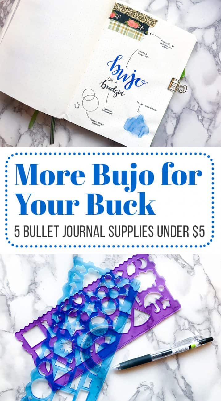 It's easy to get lost in a sea of stationery when you dive into the bullet journal world. There are so many options! But sometimes your budget isn't able to withstand a bunch of fancy pens and accessories. Thankfully, you don't need to have a fat wallet to have an incredible bullet journal. Check out this list of five bullet journal supplies that won't cost an arm and a leg!