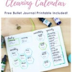 Ultimate Cleaning Calendar with Printable Short Pin 1