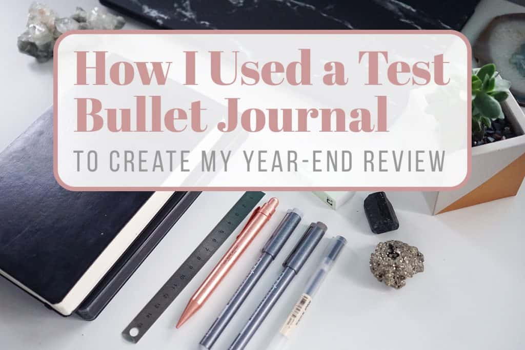 test bullet journal