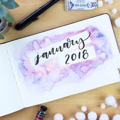 january 2018 monthly setup
