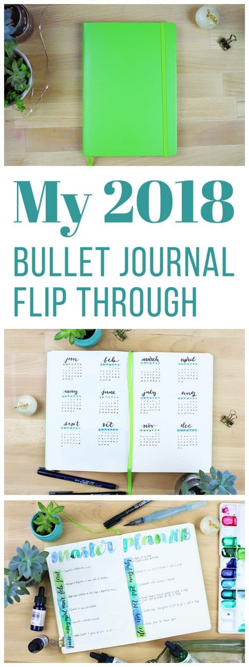 Getting ready for 2018 has been worth every bit of effort, and fun to boot! Now I want to show you my 2018 bullet journal flip through so you can see the whole set up from beginning to end.