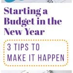 starting a budget in the new year