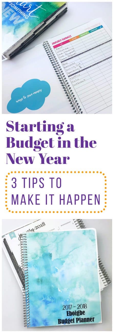 Starting a budget in the new year might sound like a scary notion, but it's not! Getting your budget under control is one of the best things you can do for yourself, and these three tips will help you get started.