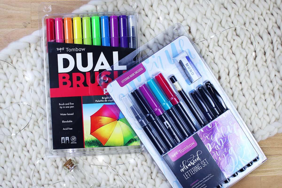 Brush lettering starter kit giveaway prizes