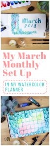 March monthly set up