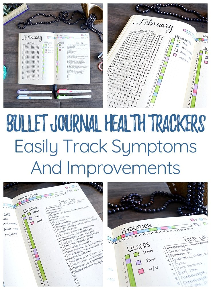 Bullet Journal Health Trackers Cover Photo & Pin