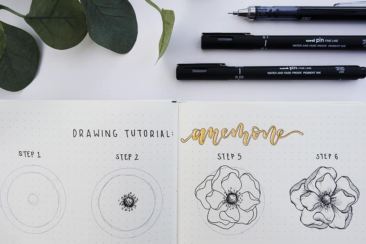 flower drawing tutorial