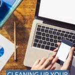Clean up digital clutter cover photo and pin