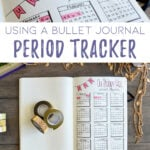 Bullet Journal period tracker cover photo pin