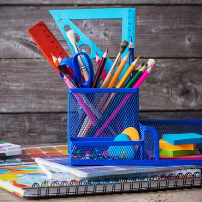 Art Supplies in an Organizer