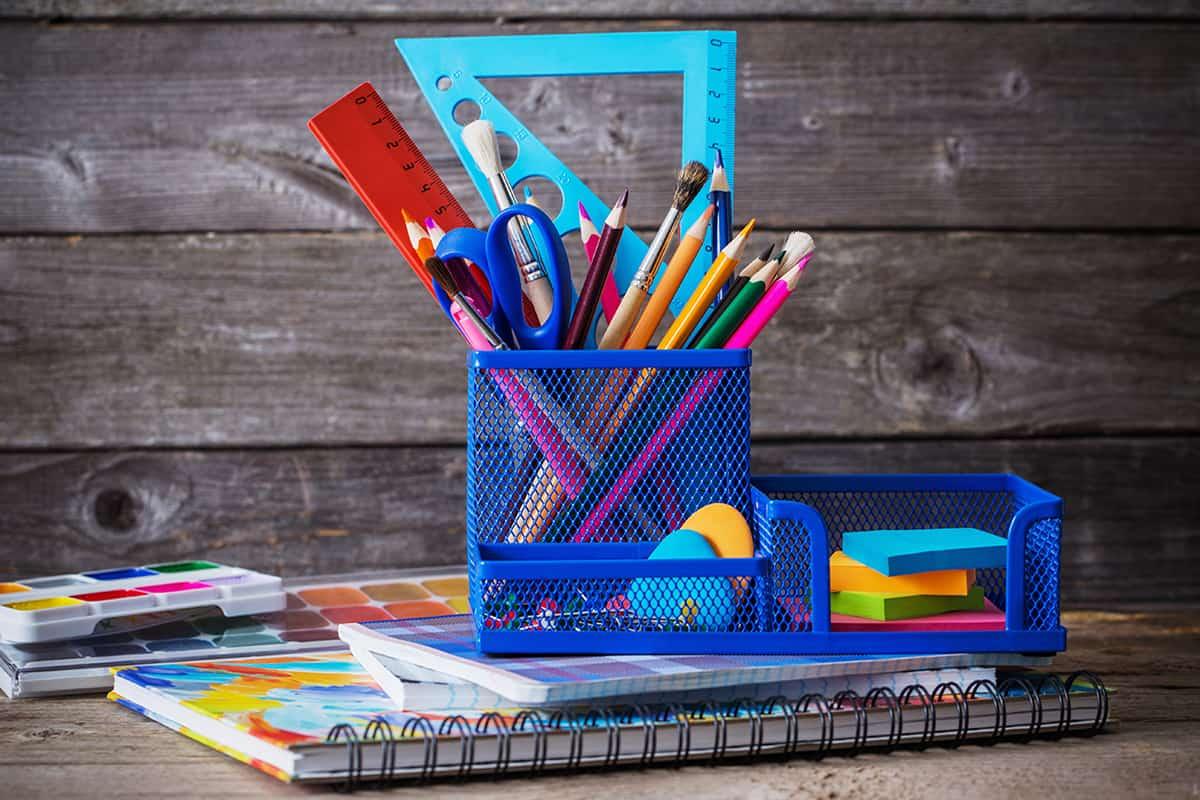 Art Supplies in an Organizer