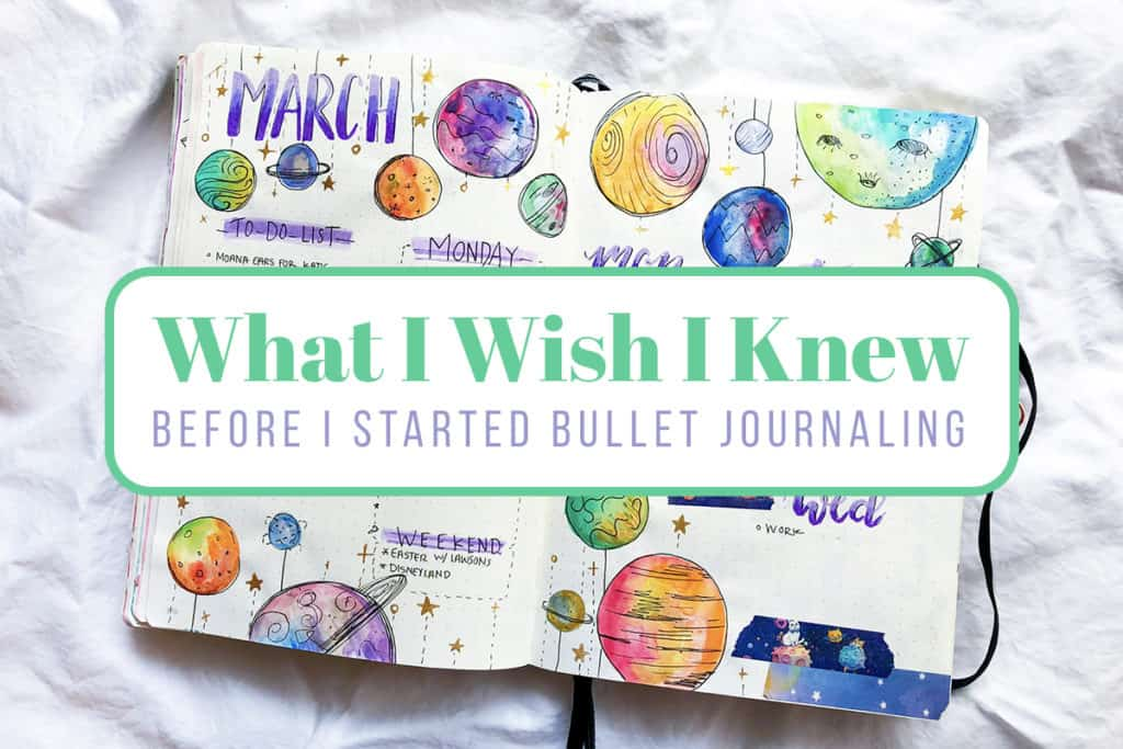 what I wish I knew when I started bullet journaling