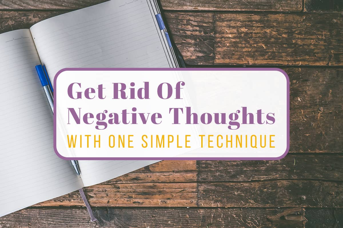 How to get rid of negative thoughts with black journaling cover photo