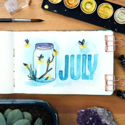 My July 2018 Monthly Setup in My Watercolor Planner
