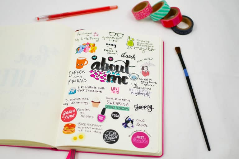 Why You Need to Make an About Me Bullet Journal Layout