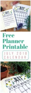 free July 2018 calendar printable
