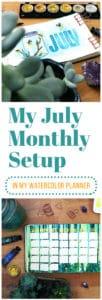 july 2018 monthly setup