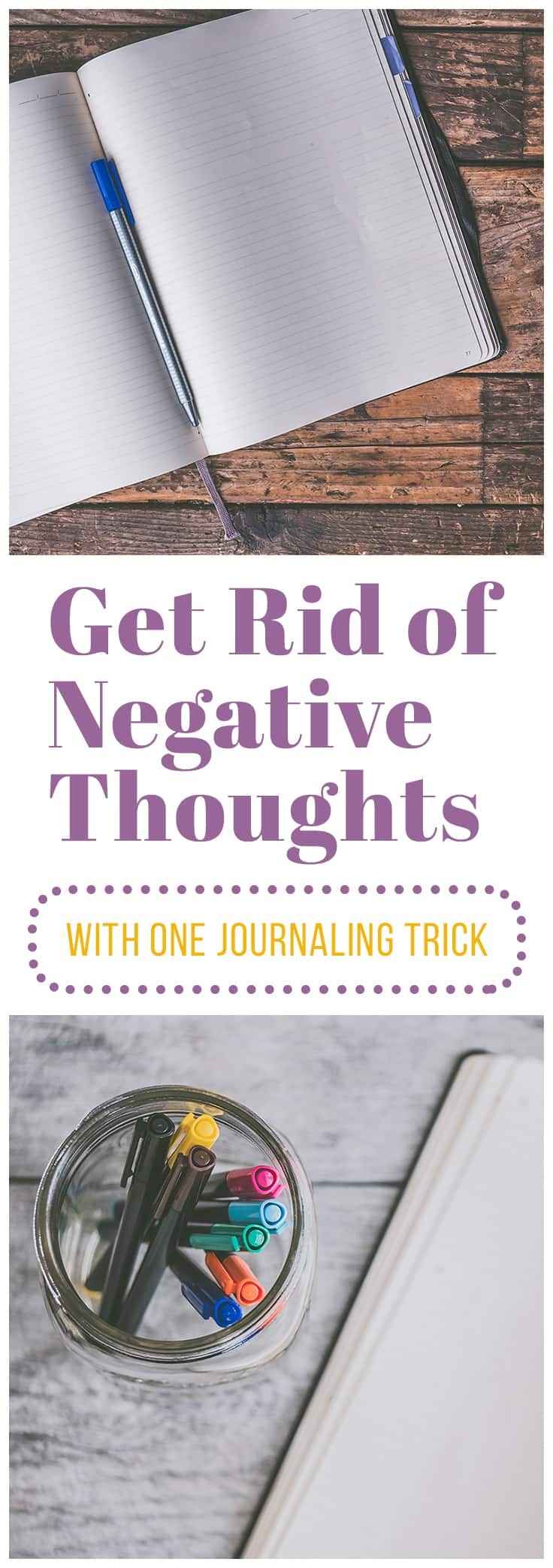 Have you ever wondered how to get rid of negative thoughts? It's not as hard as you might think with the help of one simple technique: black journaling.  Black journaling will help you rid yourself of persistent negative thoughts and move on with your life. Just click the link to see how.  #selfcare #journaling #journal prompts