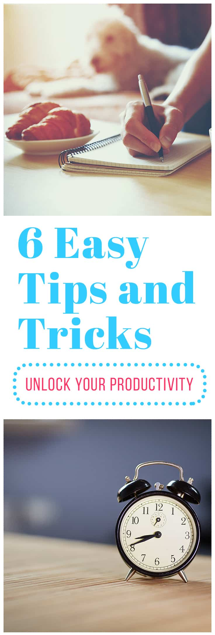Stay on task and reach your goals with these 6 productivity tips. They are quick and easy to implement so you can start seeing results right away.
