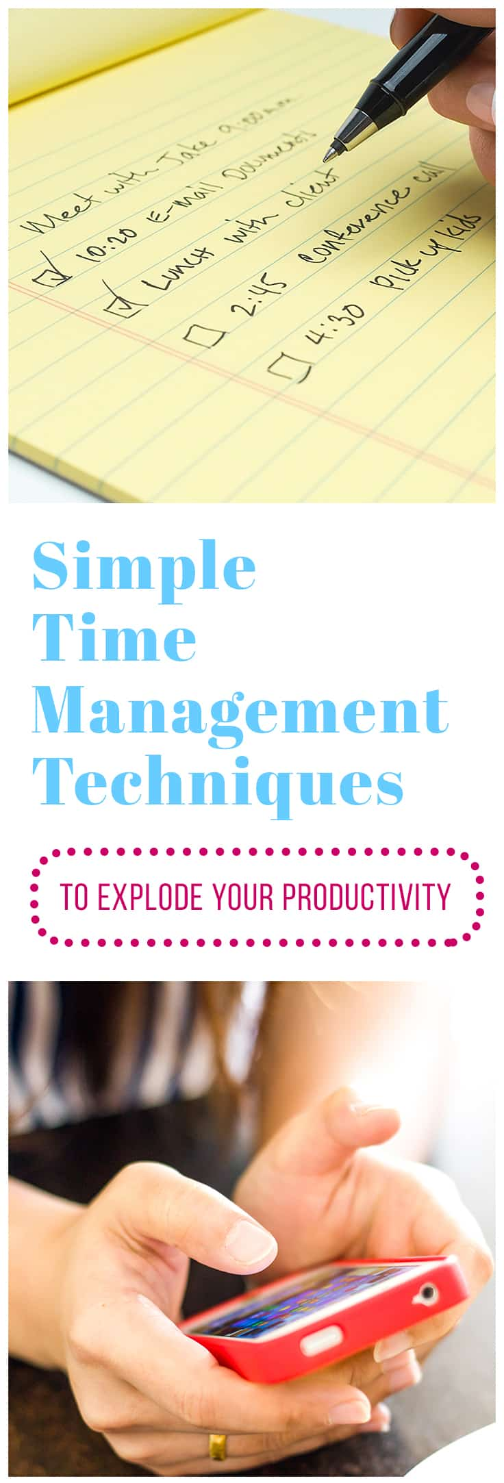 I have worked the corporate world at 60 hours a week while raising a toddler and running an Etsy shop. I had to learn ways to manage my time and boost my productivity. Now I use these same techniques to run two blogs and write for others - all while raising my son.  These time management techniques will not just save you time and make you productive, they will allow you to get in time for yourself.  #timemanagement #timemanagementtips #timemanagementtechniques