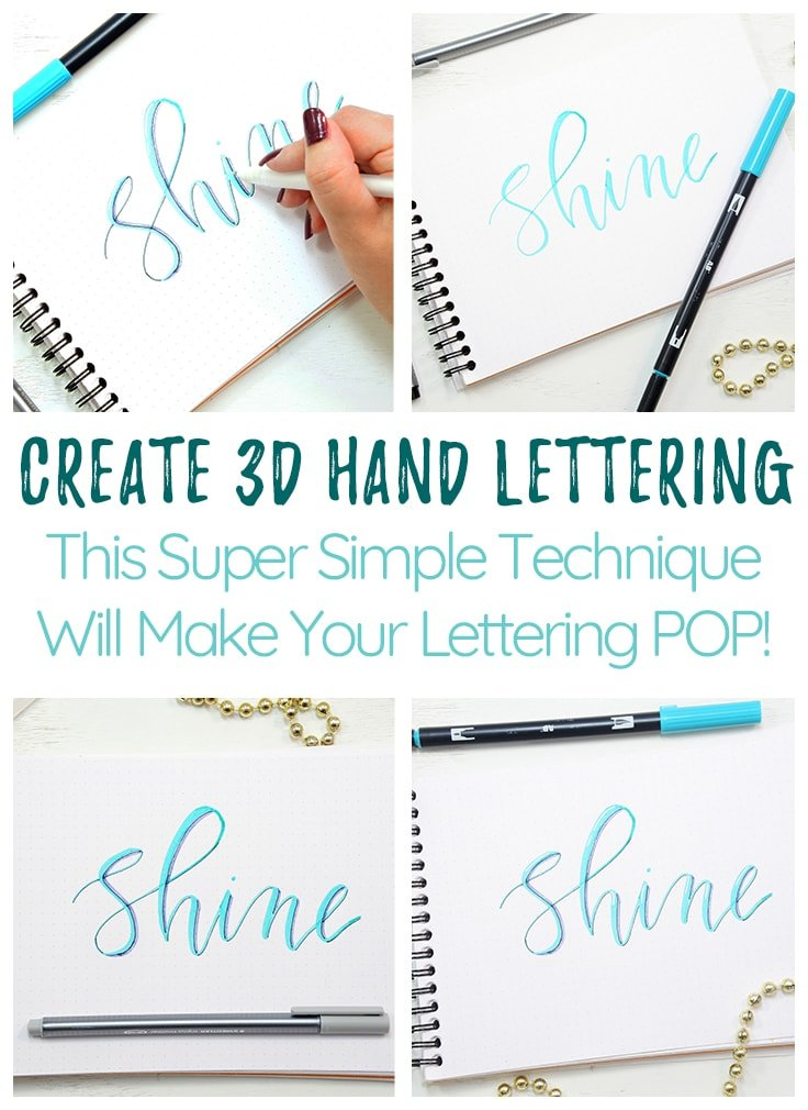 How to draw 3d letters Cover photo and Pin