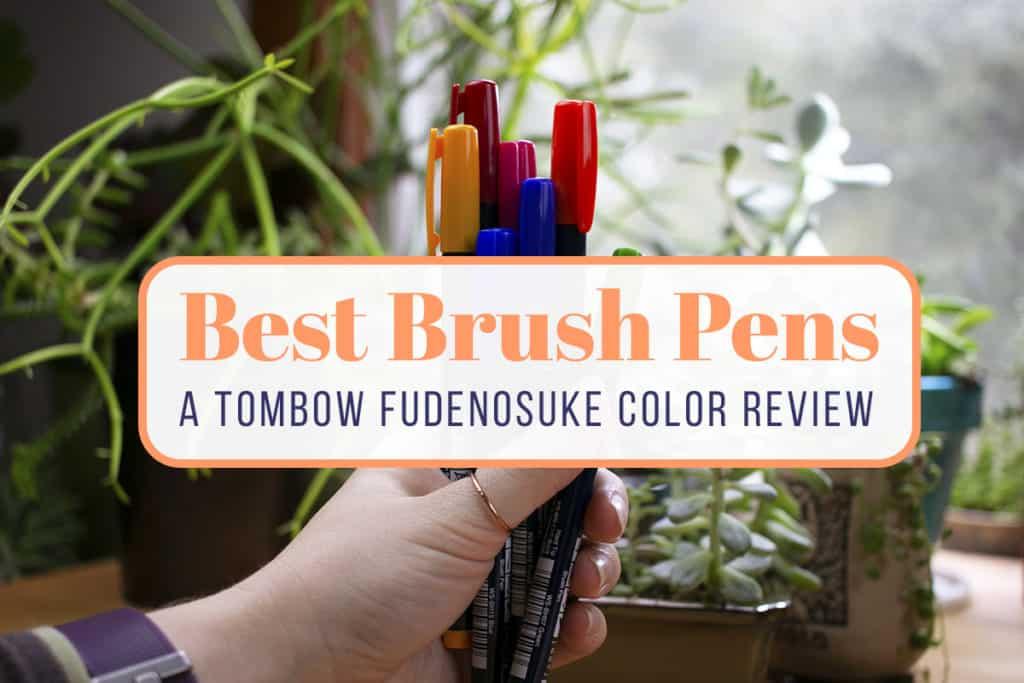 Tombow Fudenosuke Color Review