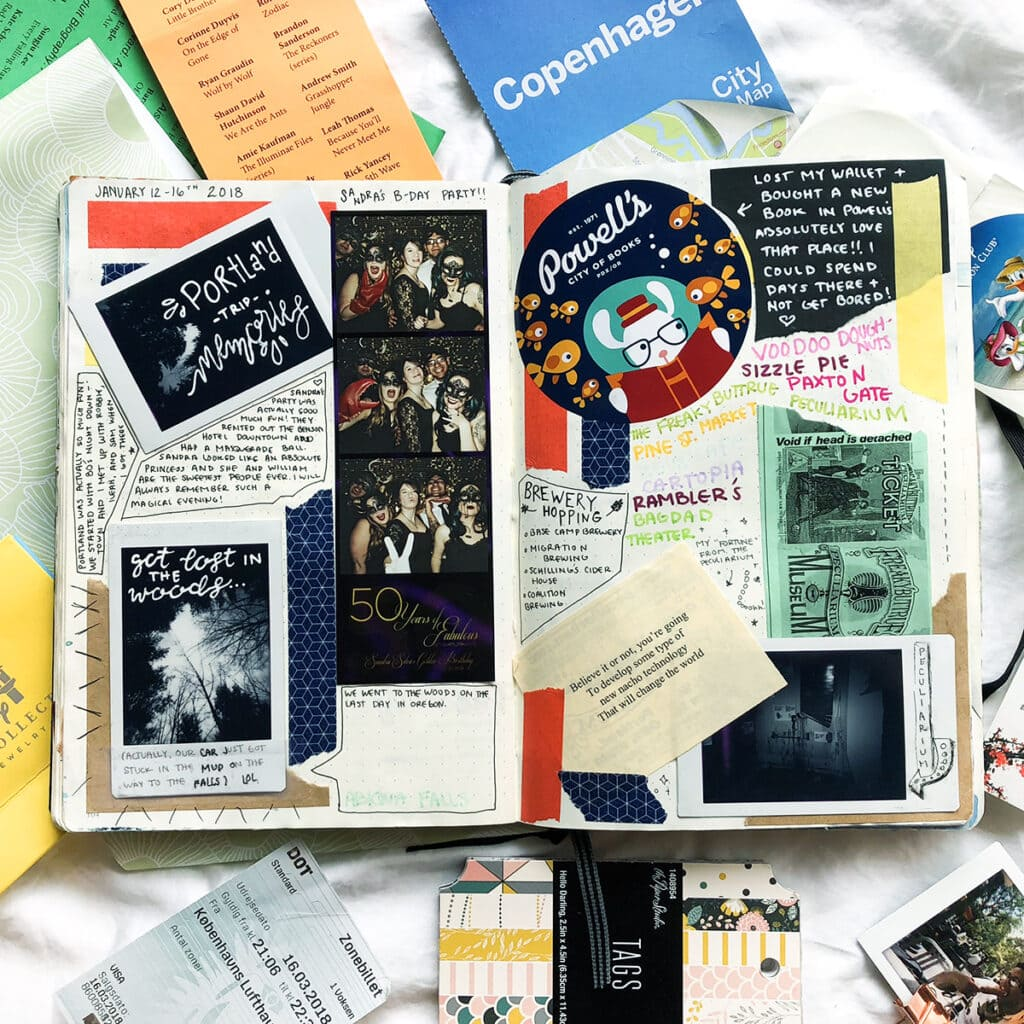 Bullet Journal Memories Page Collage