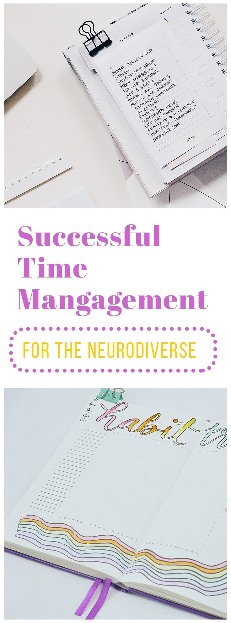 Time management hasn't been an easy journey personally. I'm at a point now where I'm regarded as having a good understanding of the topic, but it doesn't feel like long ago that I stuck out from my colleagues and classmates. People who are neurodiverse often struggle with completing tasks normally, so try one of these creative time management tools to help be more successful!  #neurodiverse #timemangement #productivity