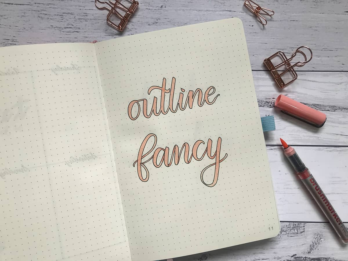 Lettering Tip #1: Fancy Outline