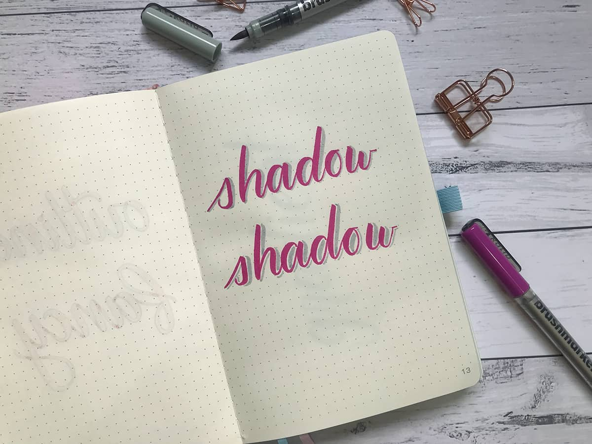 Lettering Tip #2: Add a Drop Shadow