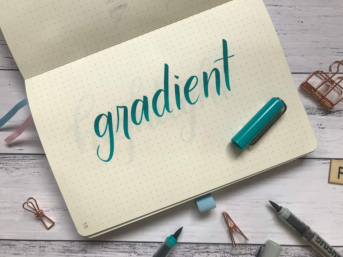 Lettering Tip #3: Add a Gradient or Ombre Effect