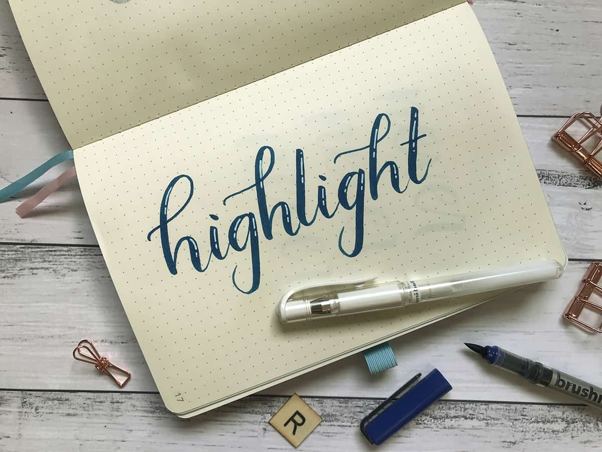 Lettering Tip #4: Add a Highlight