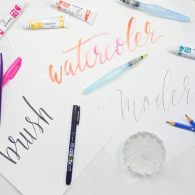 3 Easy Lettering Styles to Try This Year