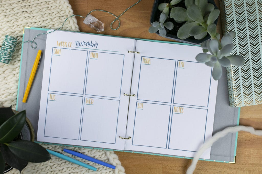 2019 New Year Printable Planner