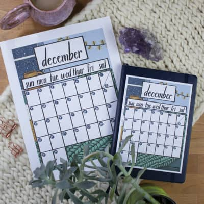 Free December 2018 Calendar Printable for Your Bullet Journal