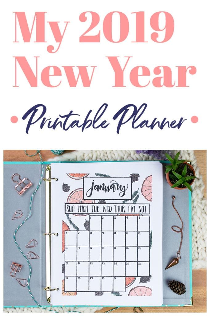 2019 New Year Printable Planner