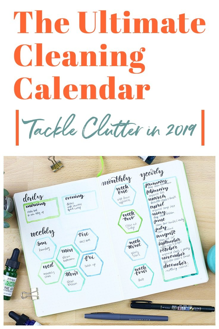 I'm setting lots of new goals for myself for 2019, and one of the big ones is that I want to be better at cleaning. That's why I'm creating my ultimate cleaning calendar to keep me on track! This will give me structures as I grow my cleaning habits and will help me make significant progress in my journey!  #cleaningcalendar #cleaningplan #bulletjournal #2019bulletjournal #newyears #2019 #bulletjournalideas #bulletjournallayouts