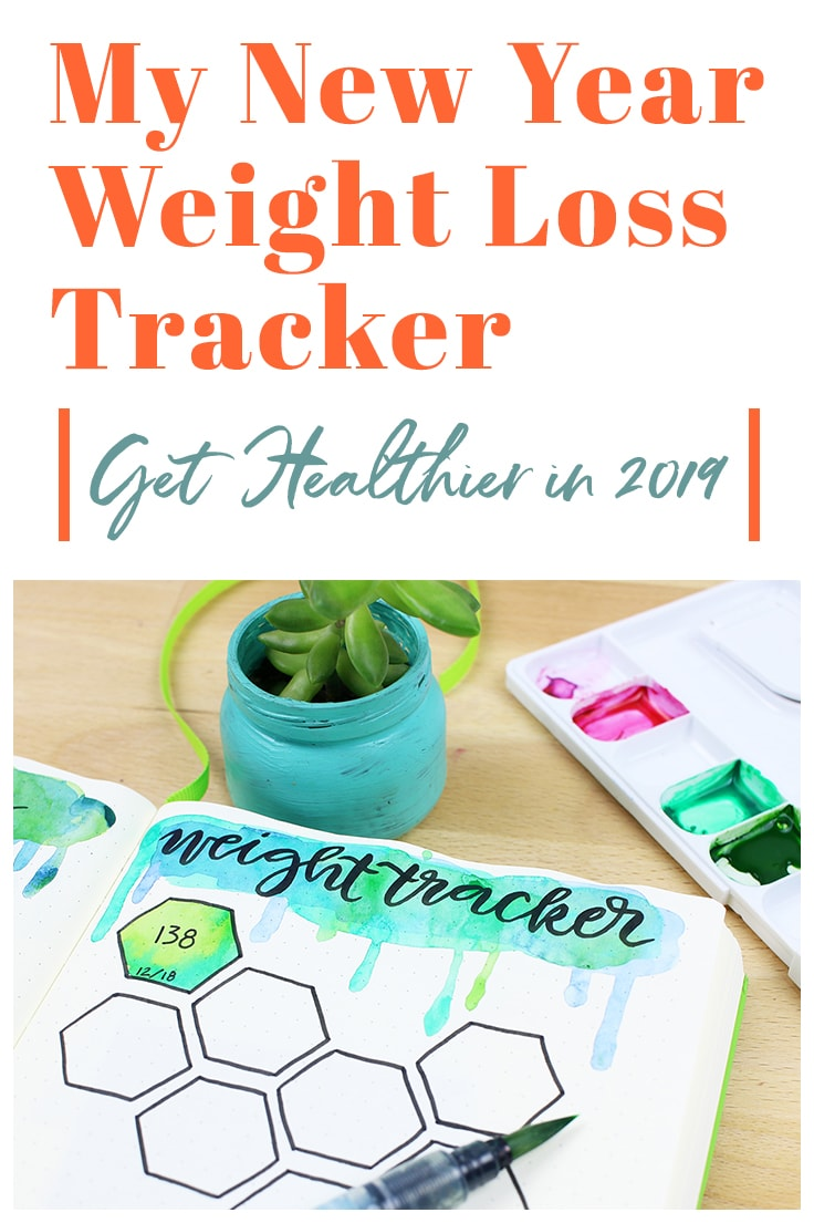 It's time to admit it - I have put on weight. Now I struggle to fit certain clothes, and I find myself searching for new outfits that help me hide my tummy a bit more. In my reflection and introspection that comes with the end of a year, I decided that I was going to address this problem with my bullet journal weight loss tracker.  #weightlosstracker #bulletjournal #2019bulletjournal #newyears #2019 #bulletjournalideas #bulletjournallayouts