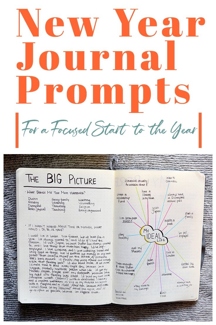 With 2019 right around the corner, it's time to start getting ready for the new year!  So, if you're like me and you're looking to get focused before setting goals in the new year, these journal prompts might help you, too.  #2019journalprompts #journalprompts #newyearjournalprompts #newyear #journaling