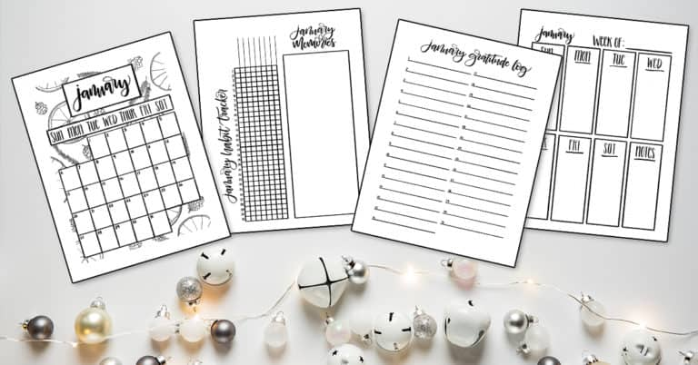 Free January 2019 Printables to Start the New Year