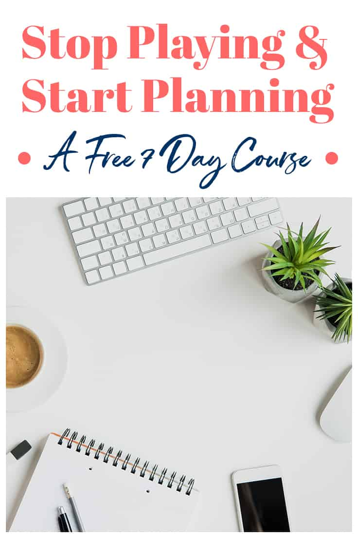 Getting organized is tough, and using a planner every day can be even harder. But you can learn how to use your planner effectively and get your shit together with my FREE 7-day email course Stop Playing & Start Planning! Enroll today and get tons of tips to help you rock your planner this year!