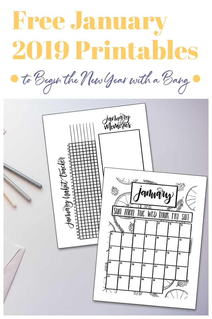 Ready to take 2019 by storm? Grab these four FREE January 2019 printables for your planner or bullet journal and make it happen! January is where all that tasty New Year's motivation can really take root, so focus it on what really matters with the help of these fabulous printables!  #januaryprintable #printablecalendar #januarycalendar #january2019printable #freeprintable #freeprintablecalendar #freejanuaryprintable #freecalendar #free