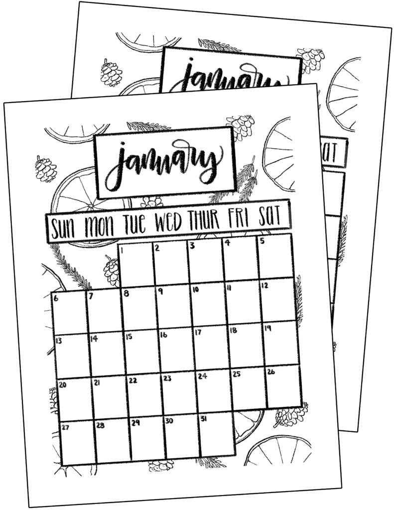 photograph relating to Bullet Journal Printable Pages identified as Cost-free January 2019 Printables in direction of Commence the Fresh 12 months