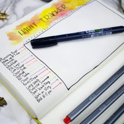 40 Things to Track in Your Bullet Journal Habit Tracker + Free Printable!