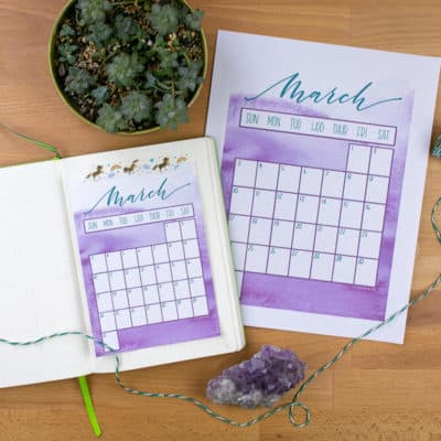 Free March 2019 Calendar Printable for Your Bullet Journal