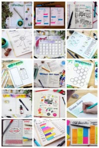 Bullet Journal Spreads Collage Pin
